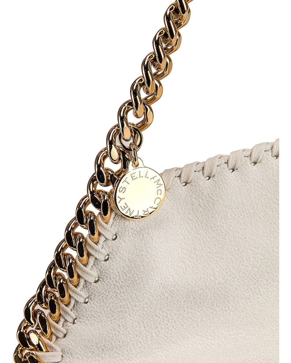 Image 8 of Stella McCartney Mini Falabella Tote in Chalk