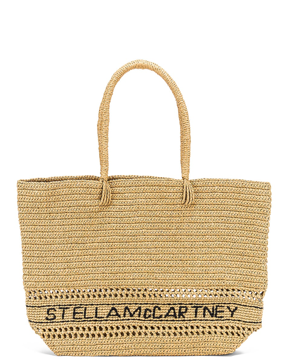 Image 1 of Stella McCartney Small Monogram Tote in Ecru
