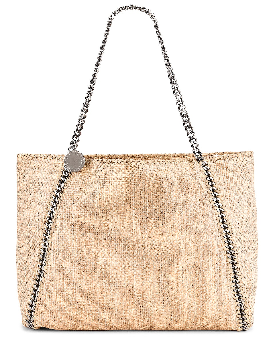 Image 1 of Stella McCartney Medium Reversible Rafia Falabella Tote in Natural