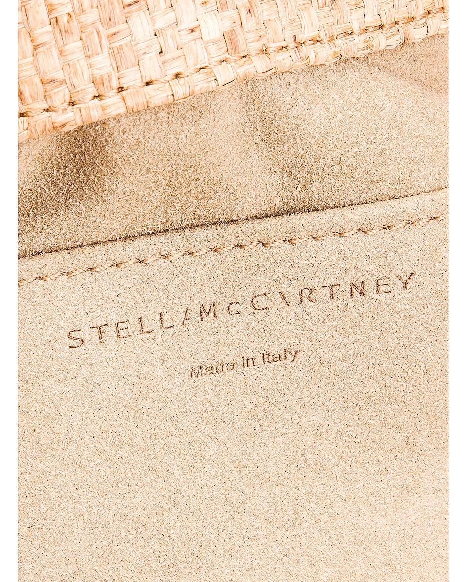 Image 6 of Stella McCartney Medium Reversible Rafia Falabella Tote in Natural