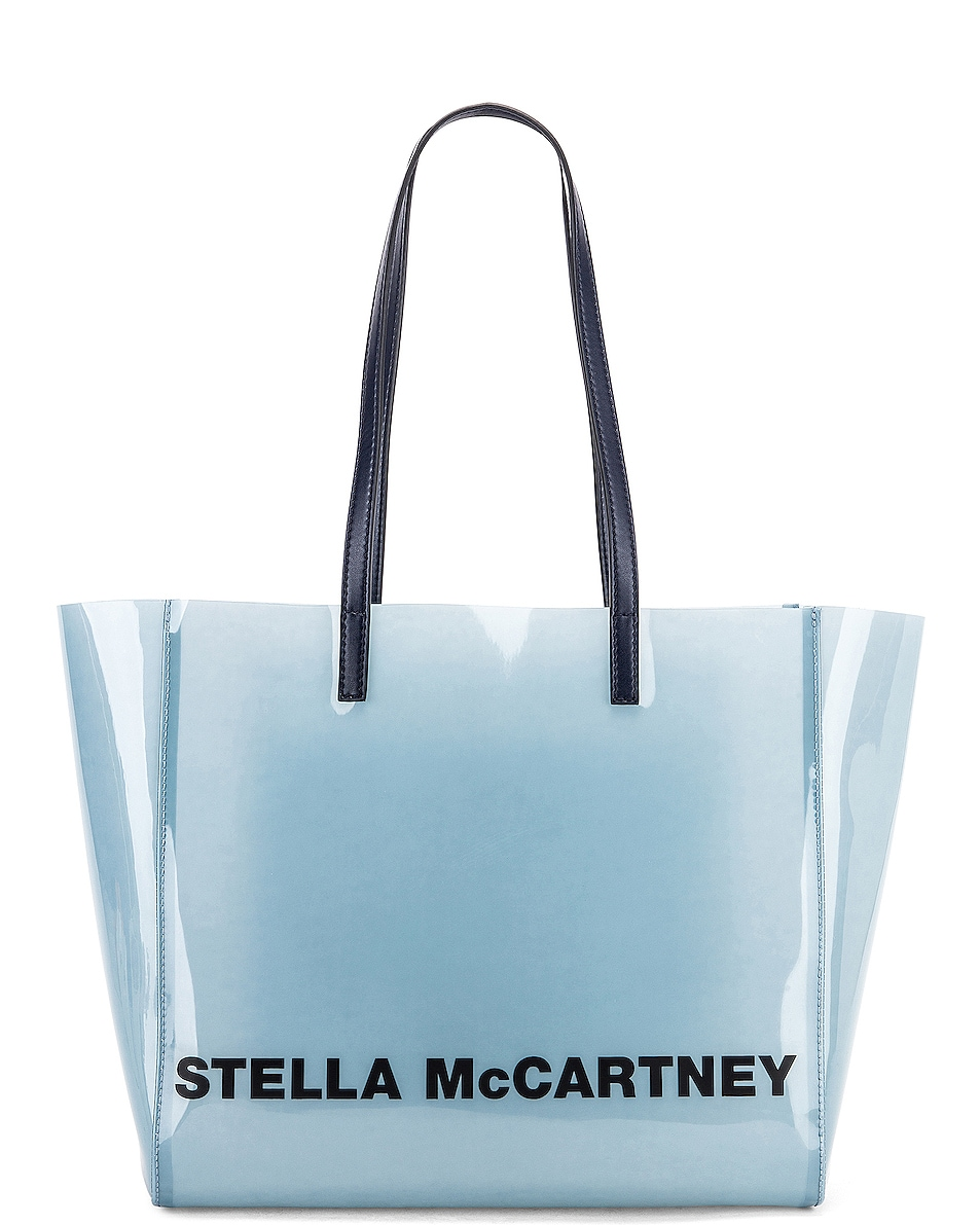 Image 1 of Stella McCartney Small Monogram Clear Tote in Pastel Blue