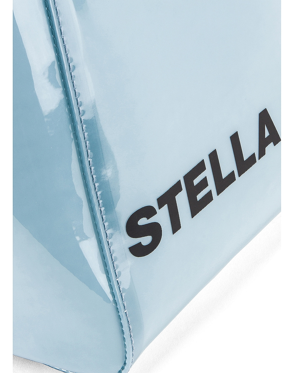 Image 7 of Stella McCartney Small Monogram Clear Tote in Pastel Blue
