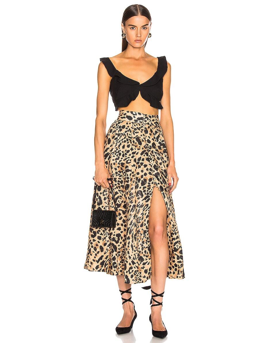 Image 2 of Stella McCartney Small Flap Star Shoulder Bag in Black