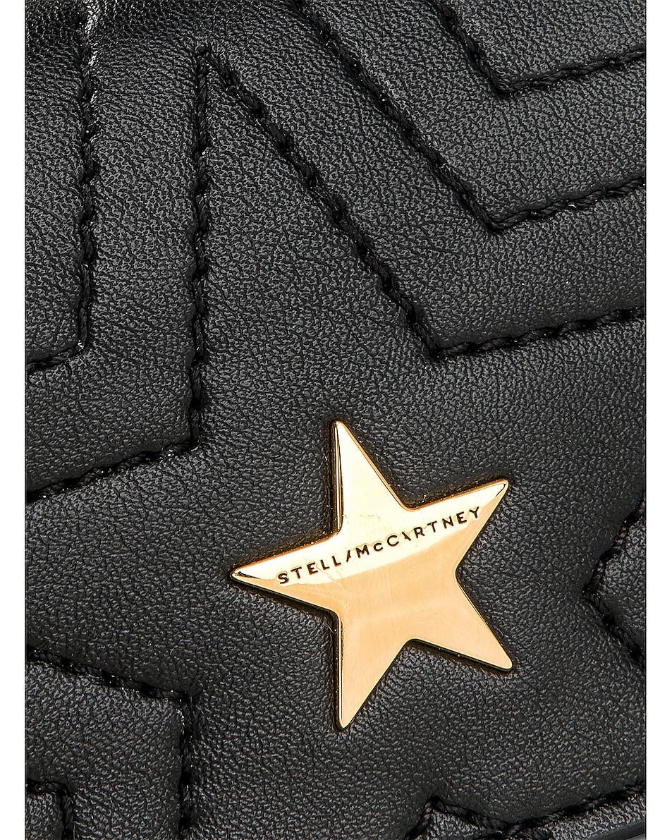 Image 8 of Stella McCartney Small Flap Star Shoulder Bag in Black