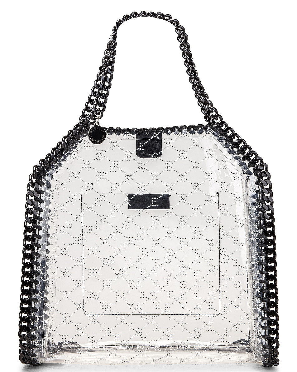 Image 1 of Stella McCartney Mini Clear Falabella Monogram Tote in Clear