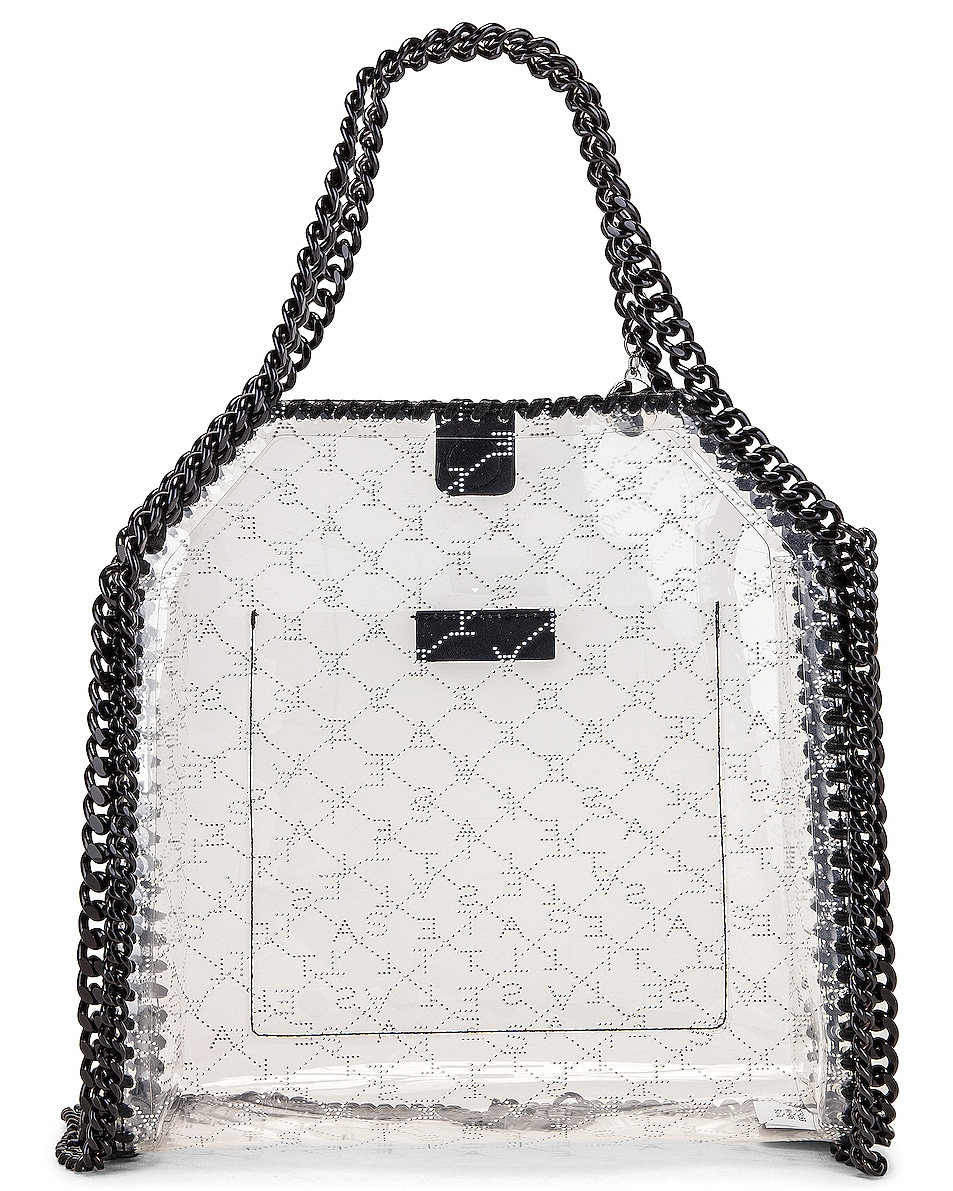 Image 3 of Stella McCartney Mini Clear Falabella Monogram Tote in Clear