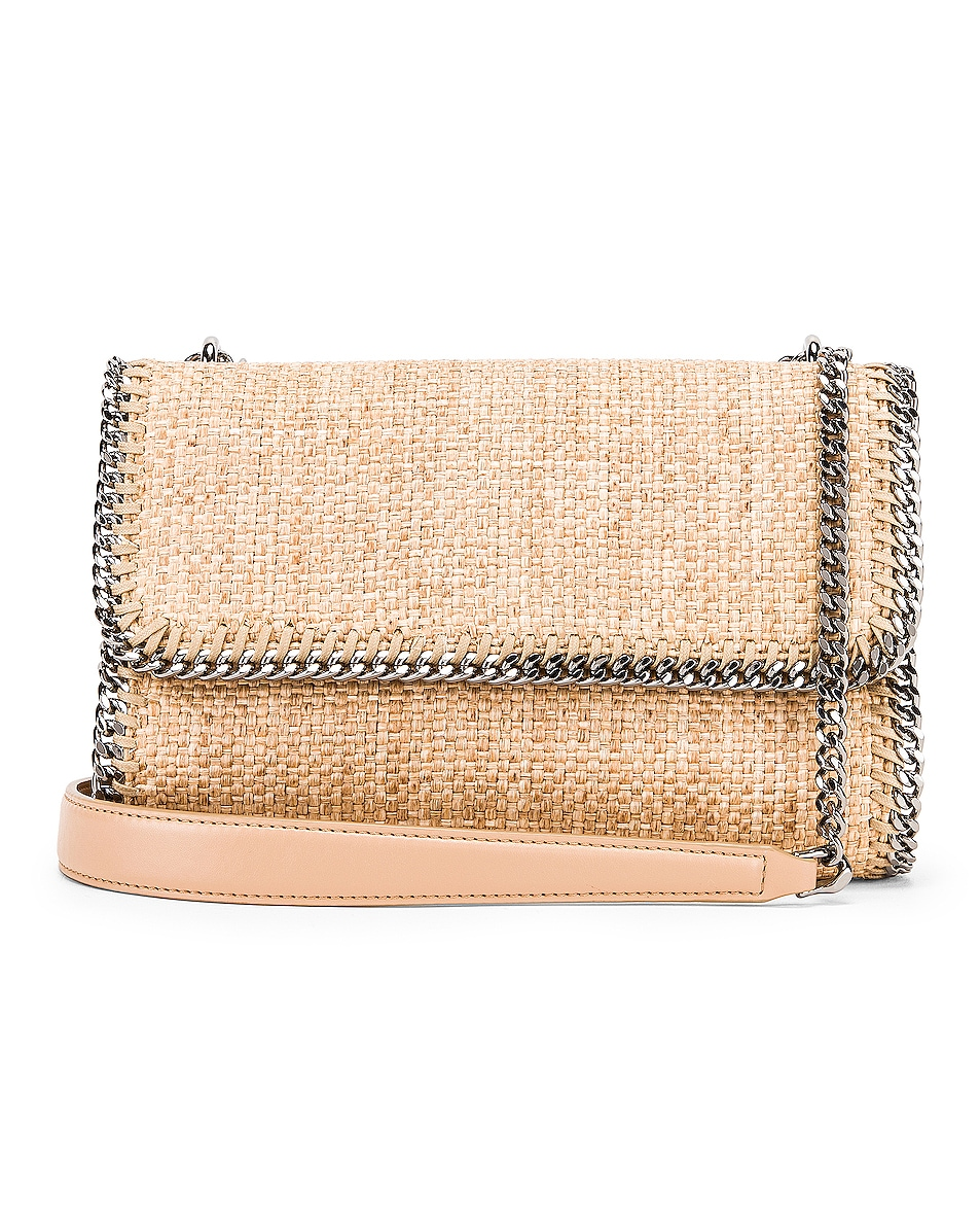 Image 1 of Stella McCartney Rafia Falabella Shoulder Bag in Natural