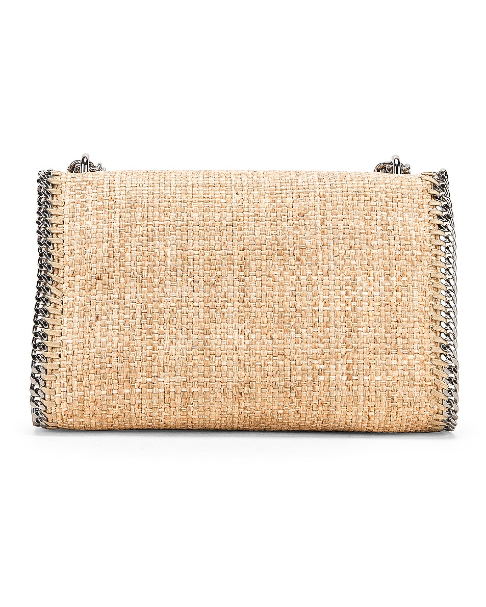 Image 3 of Stella McCartney Rafia Falabella Shoulder Bag in Natural