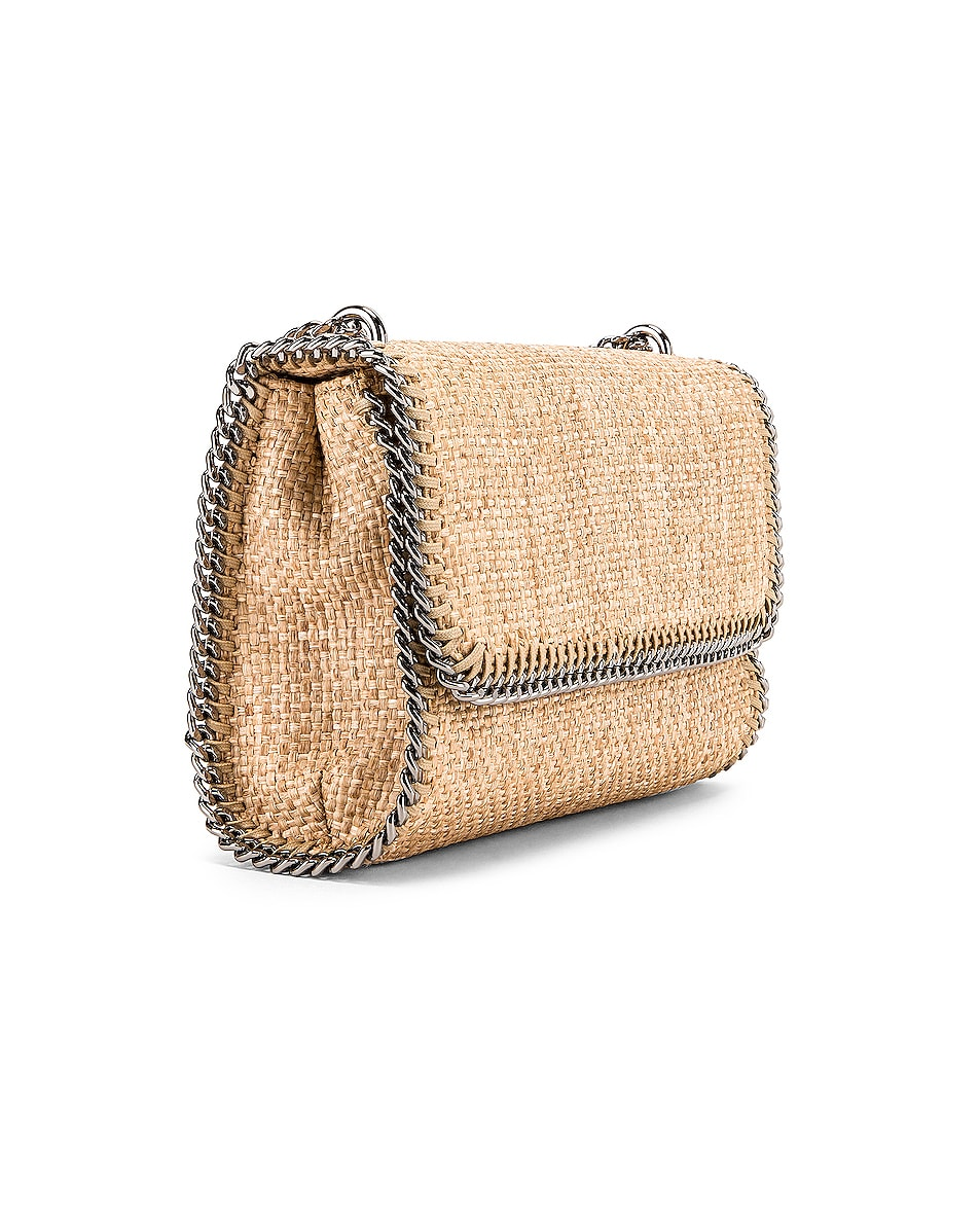 Image 4 of Stella McCartney Rafia Falabella Shoulder Bag in Natural
