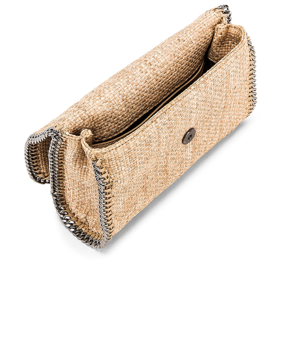 Image 5 of Stella McCartney Rafia Falabella Shoulder Bag in Natural