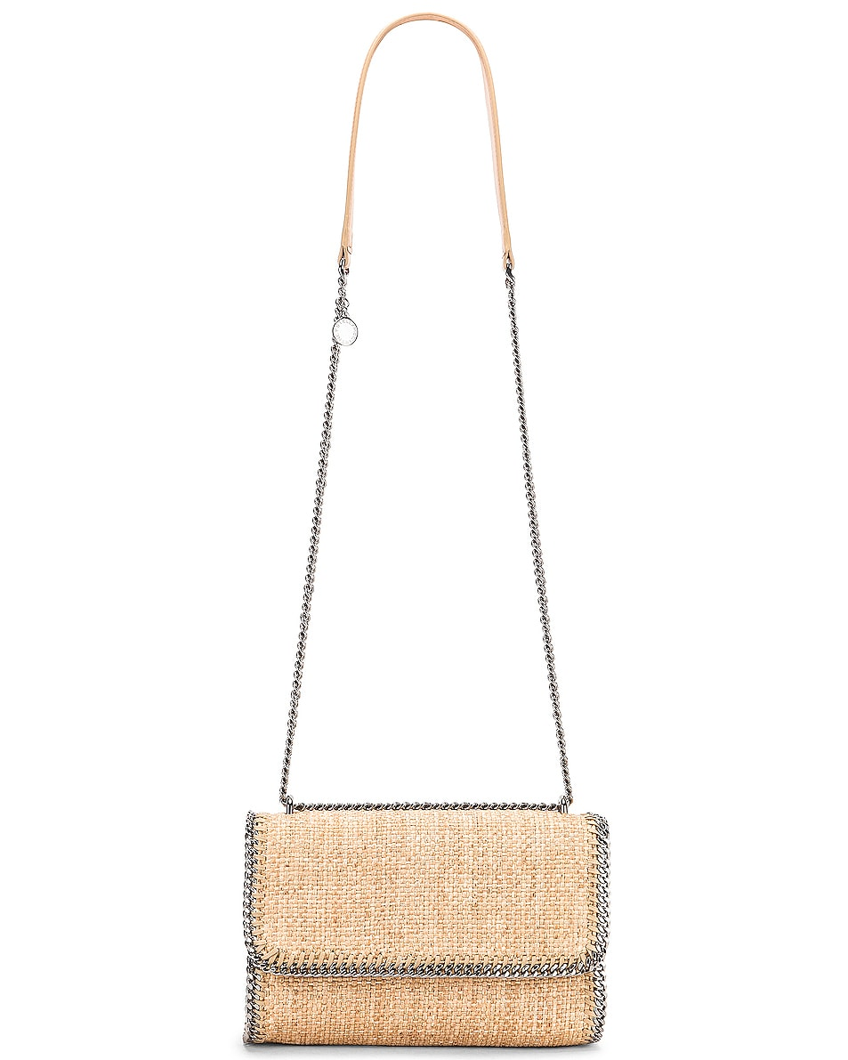 Image 6 of Stella McCartney Rafia Falabella Shoulder Bag in Natural