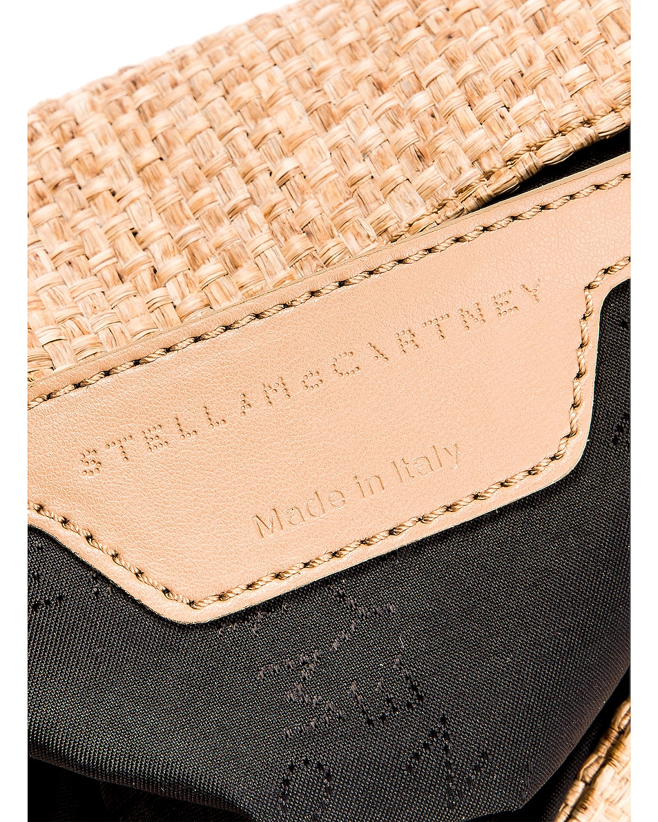 Image 7 of Stella McCartney Rafia Falabella Shoulder Bag in Natural