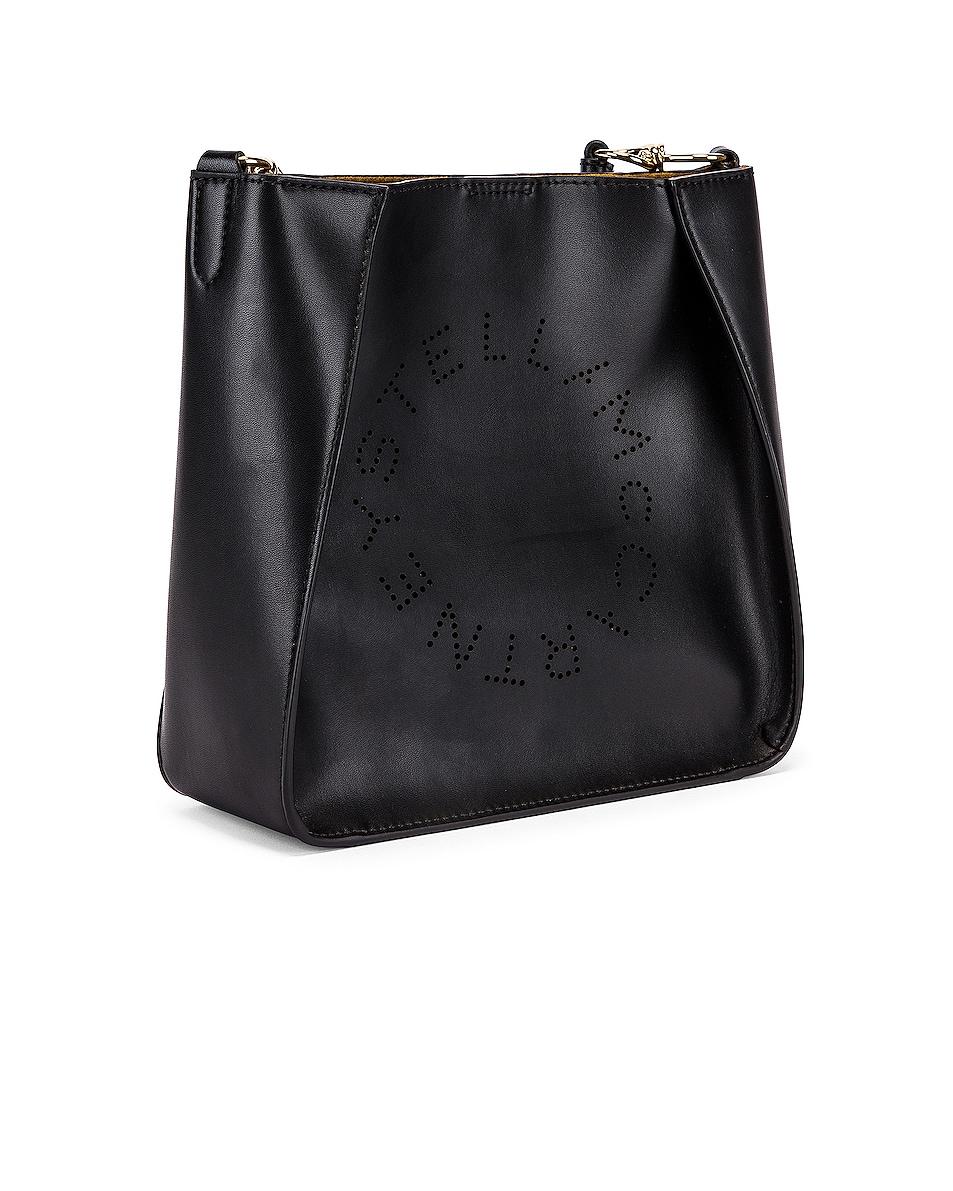 Image 3 of Stella McCartney Mini Logo Crossbody Bag in Black