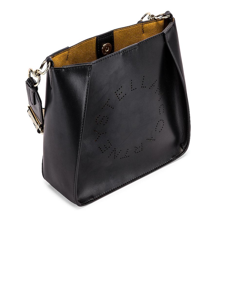 Image 4 of Stella McCartney Mini Logo Crossbody Bag in Black