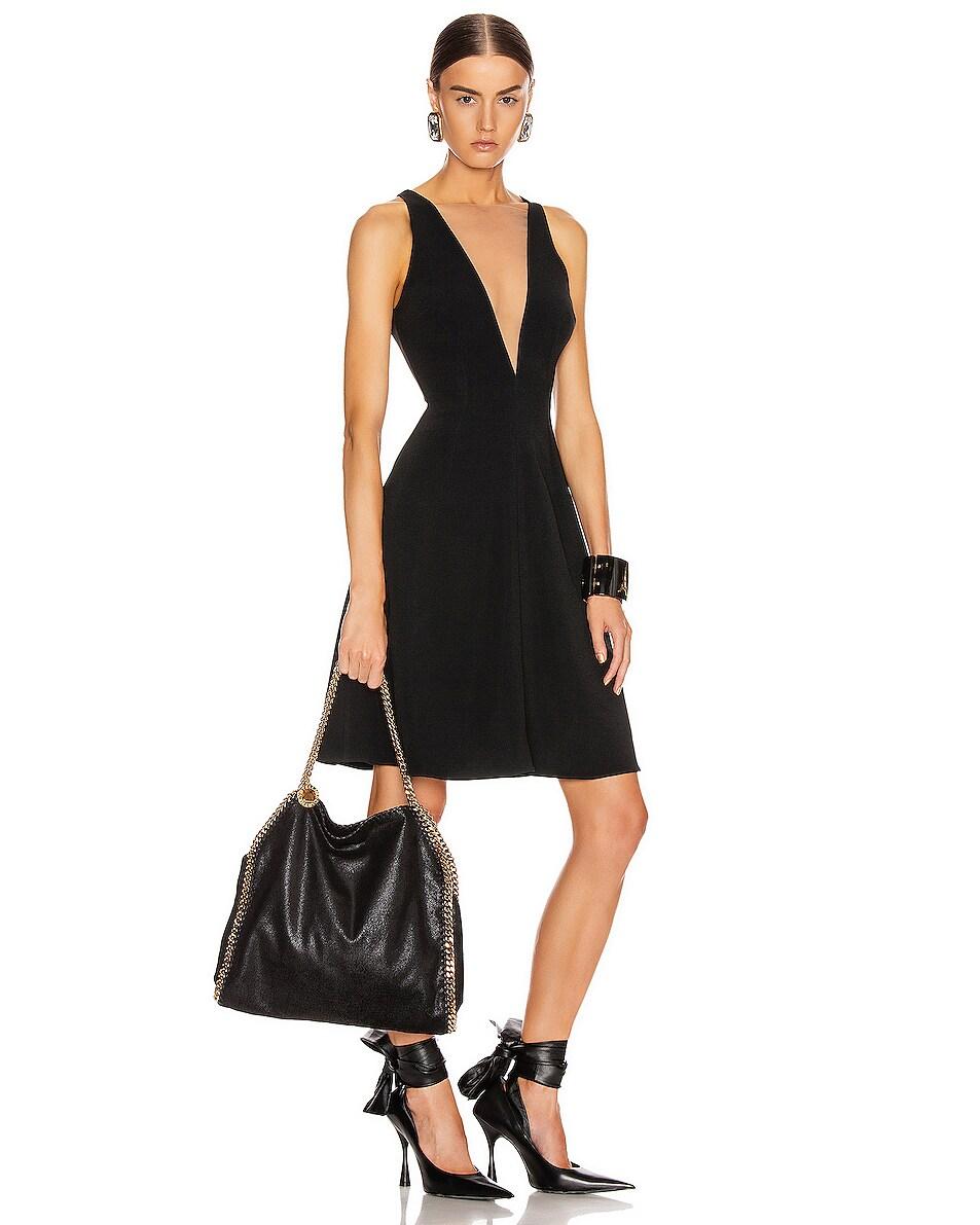Image 2 of Stella McCartney Small Falabella Chain Bag in Black