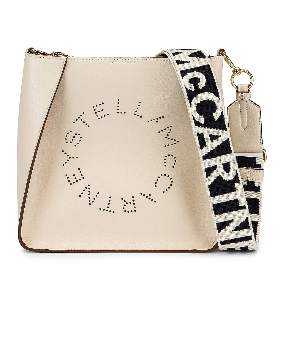 Image 1 of Stella McCartney Mini Logo Crossbody Bag in Pure White