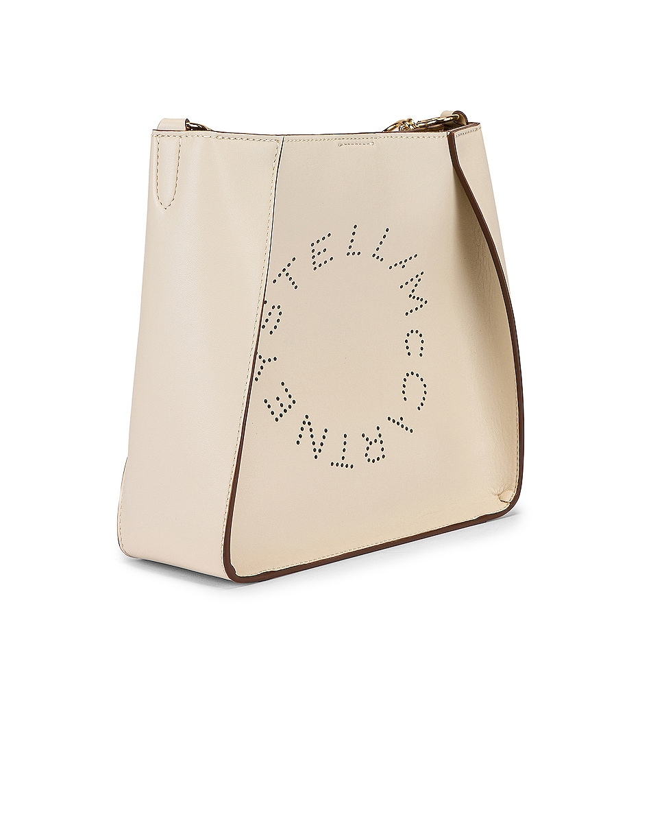 Image 3 of Stella McCartney Mini Logo Crossbody Bag in Pure White