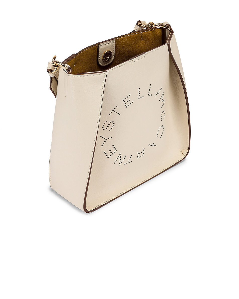 Image 4 of Stella McCartney Mini Logo Crossbody Bag in Pure White