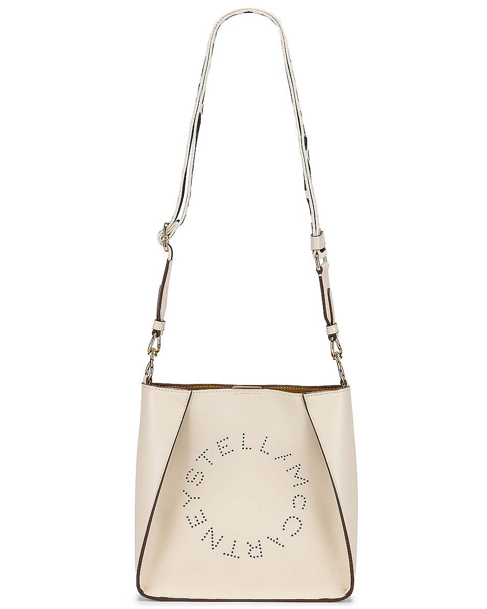 Image 5 of Stella McCartney Mini Logo Crossbody Bag in Pure White