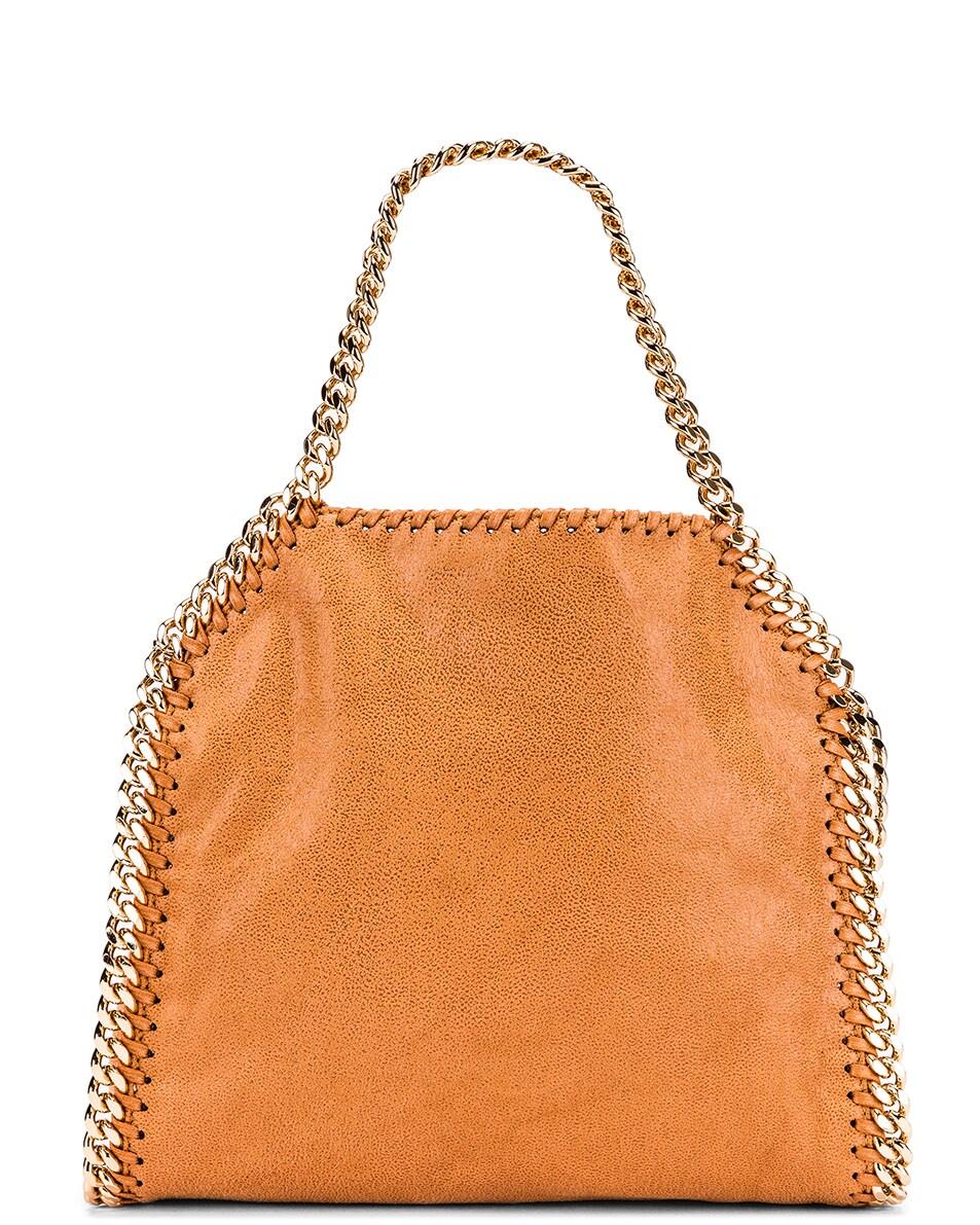 Image 3 of Stella McCartney Mini Falabella Chain Tote in Tan