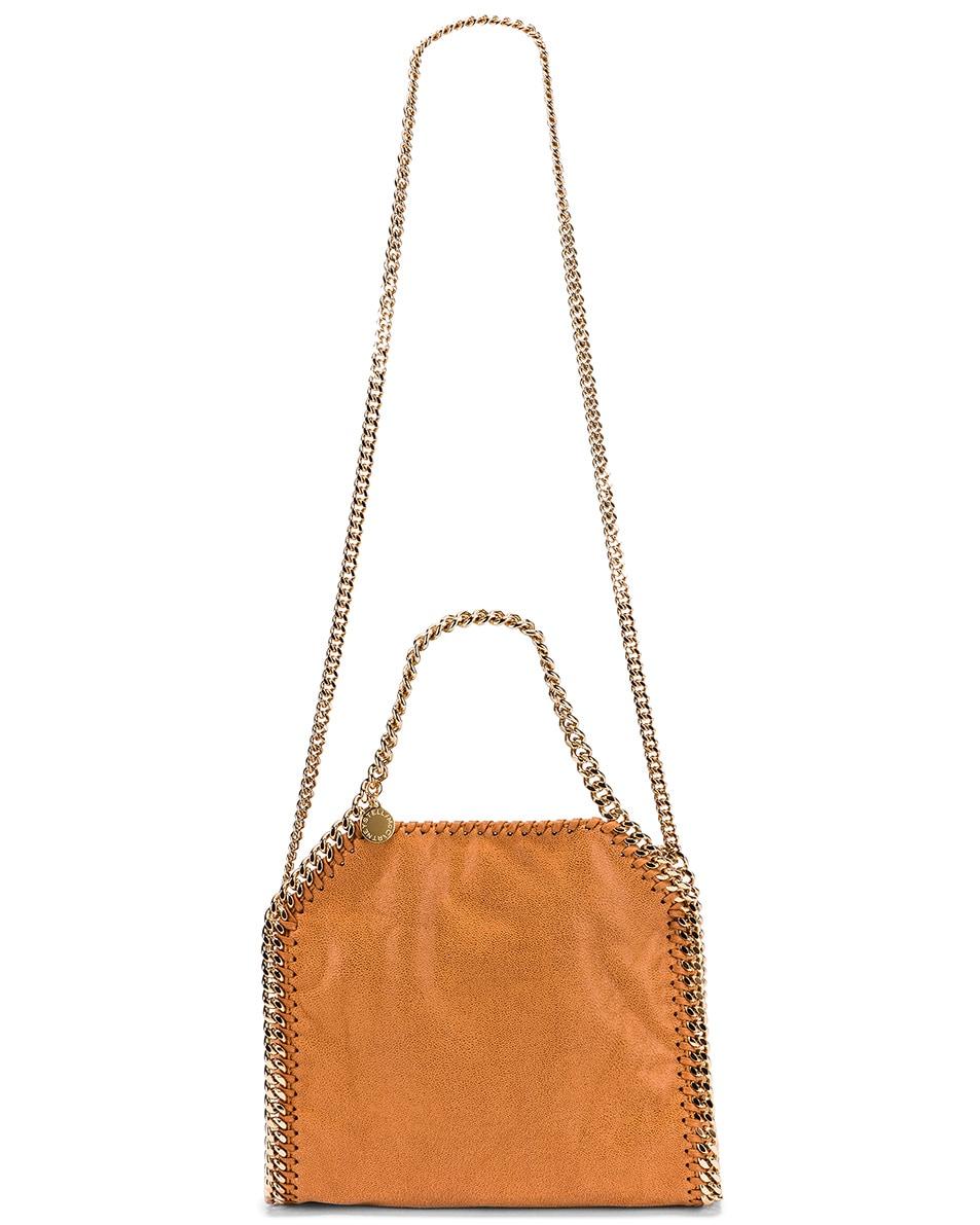 Image 6 of Stella McCartney Mini Falabella Chain Tote in Tan