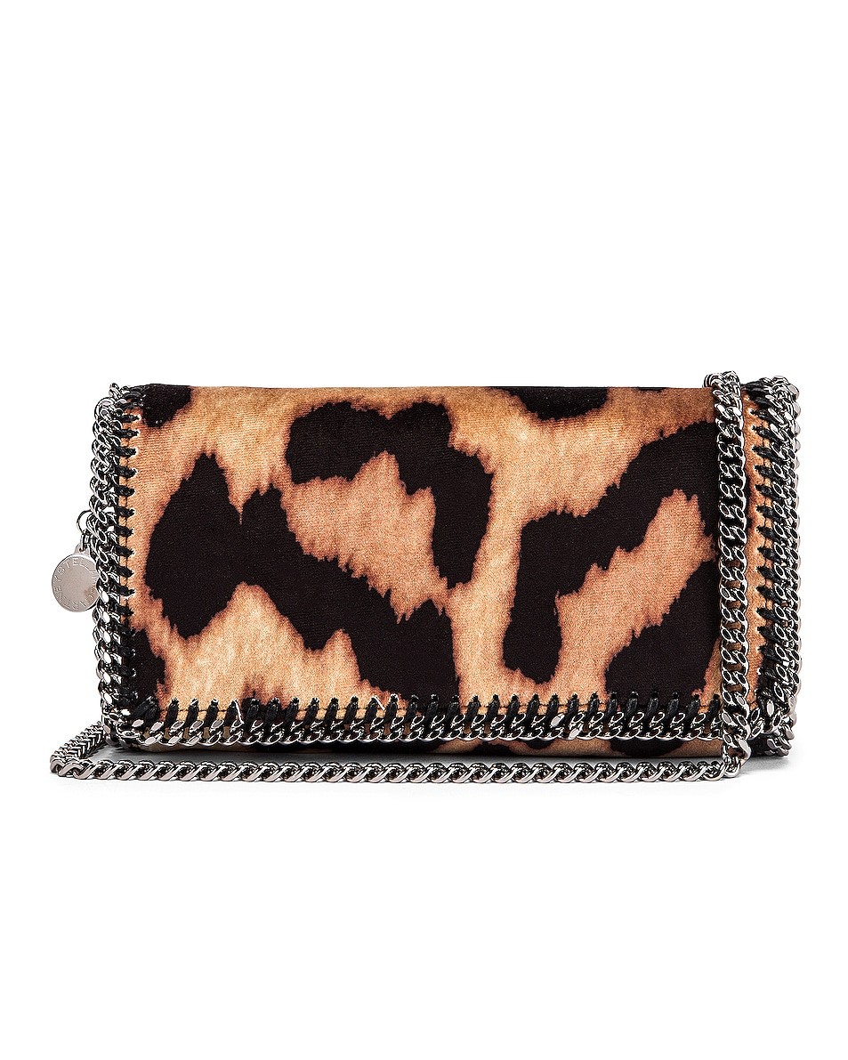 Image 1 of Stella McCartney Clutch Crossbody Bag in Camel & Black