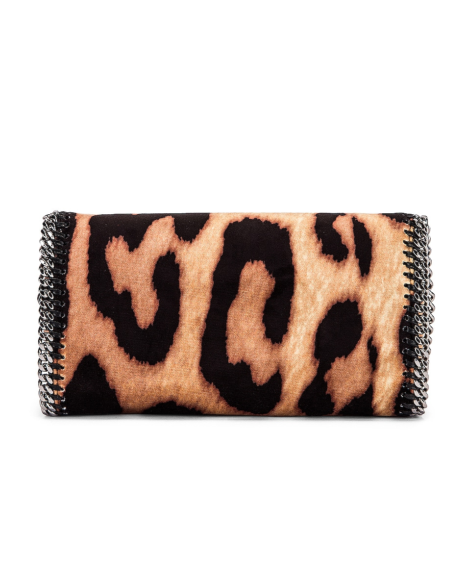 Image 2 of Stella McCartney Clutch Crossbody Bag in Camel & Black