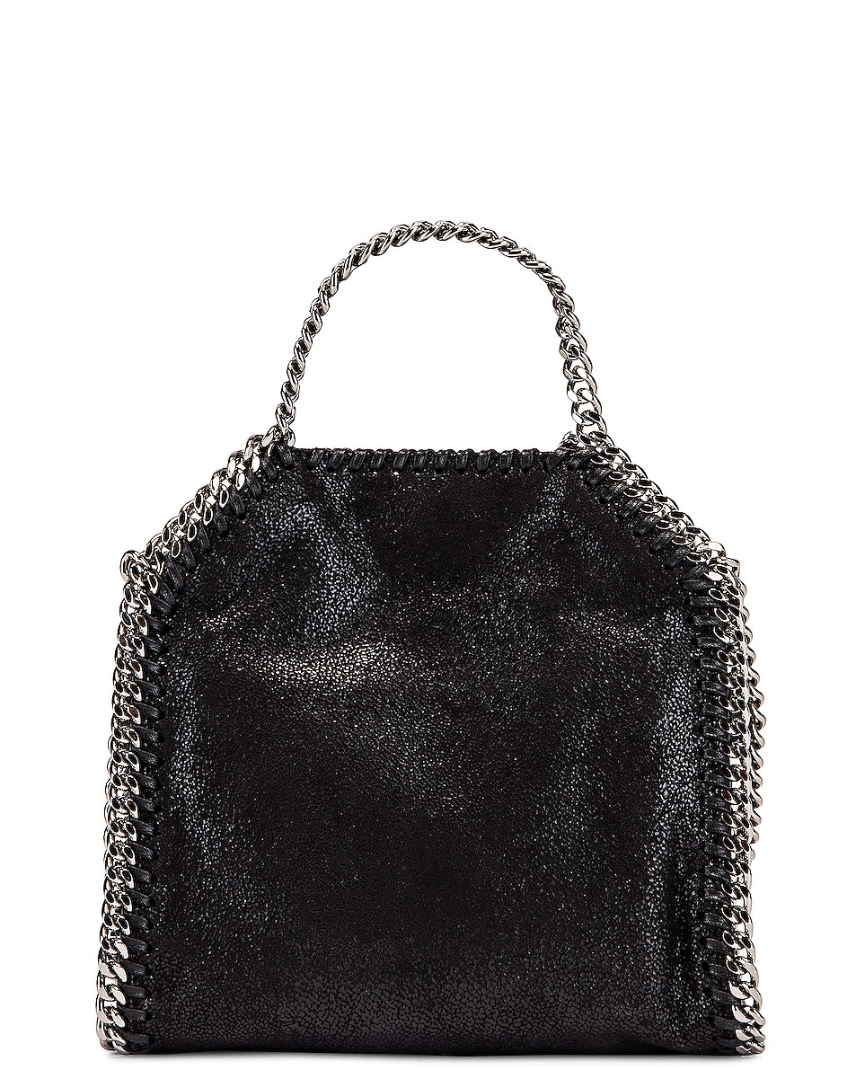 Image 3 of Stella McCartney Shaggy Deer Falabella Tiny Tote in Black