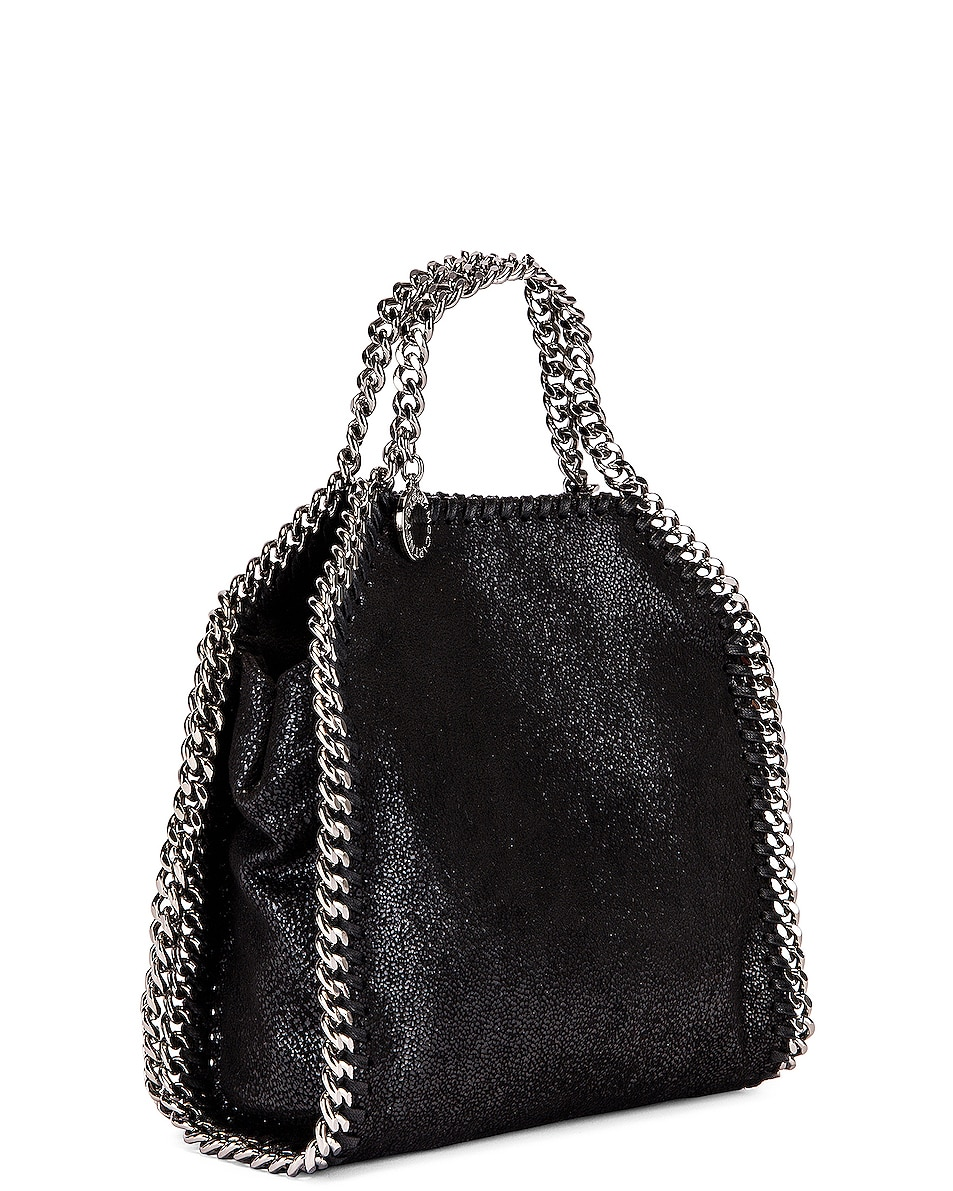Image 4 of Stella McCartney Shaggy Deer Falabella Tiny Tote in Black