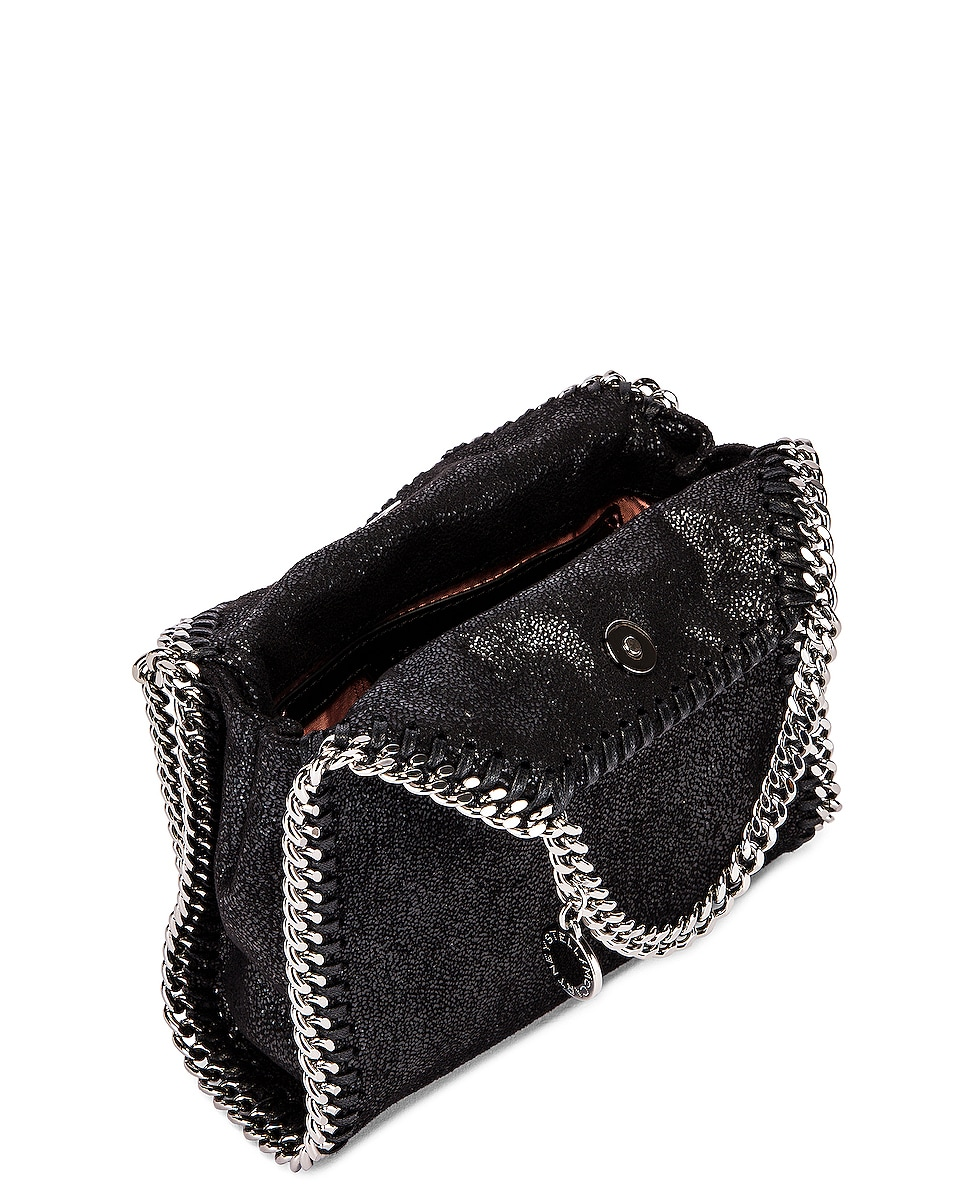Image 5 of Stella McCartney Shaggy Deer Falabella Tiny Tote in Black