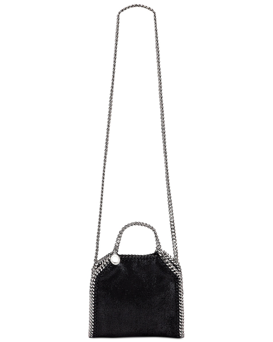 Image 6 of Stella McCartney Shaggy Deer Falabella Tiny Tote in Black