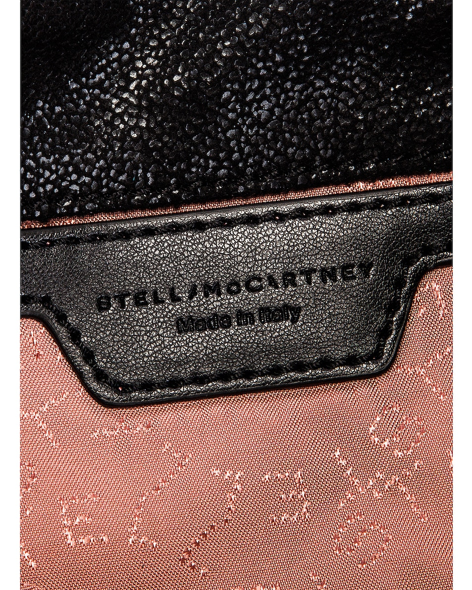 Image 7 of Stella McCartney Shaggy Deer Falabella Tiny Tote in Black