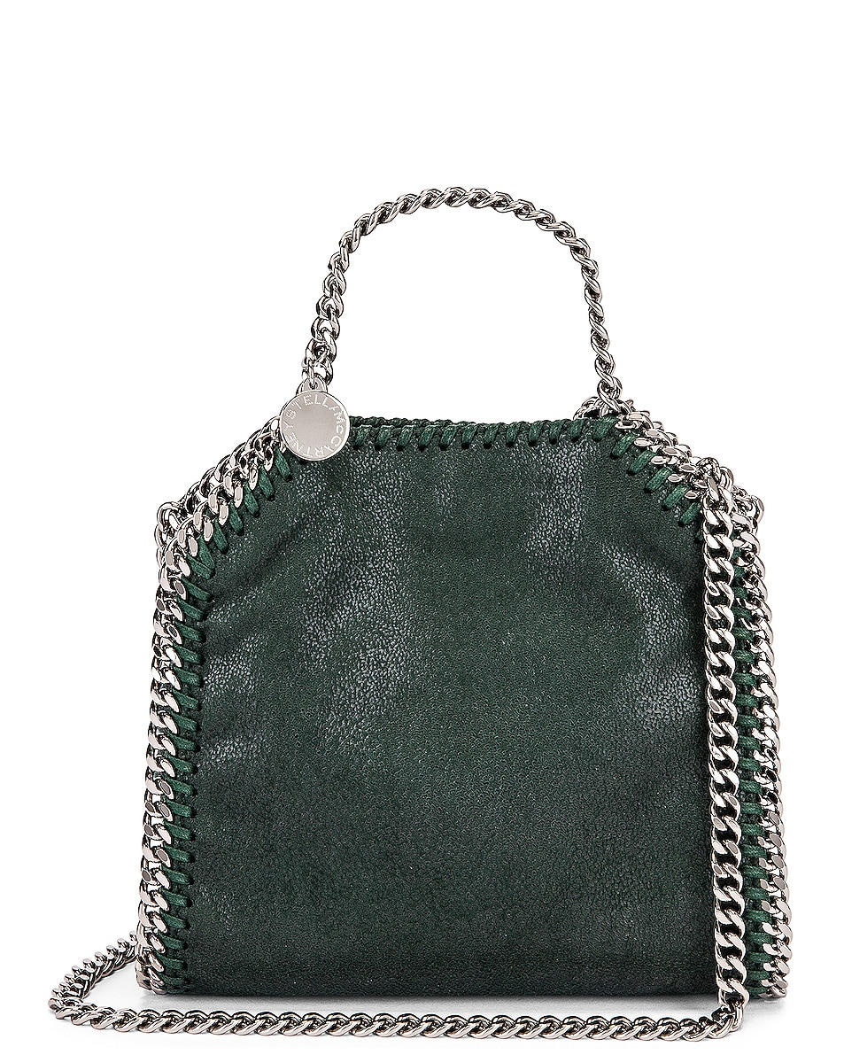 Image 1 of Stella McCartney Shaggy Deer Falabella Tiny Tote in Pine