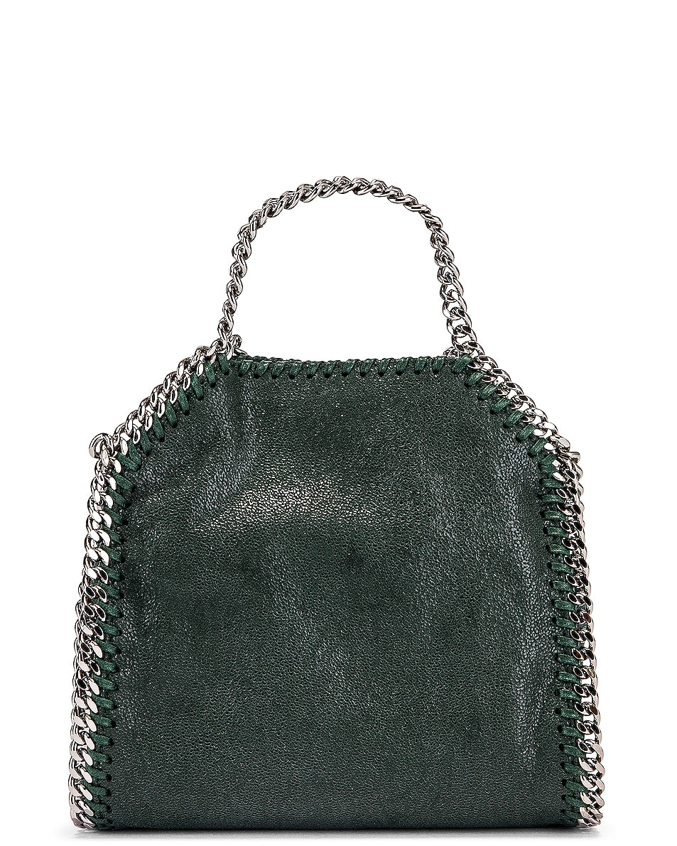 Image 2 of Stella McCartney Shaggy Deer Falabella Tiny Tote in Pine