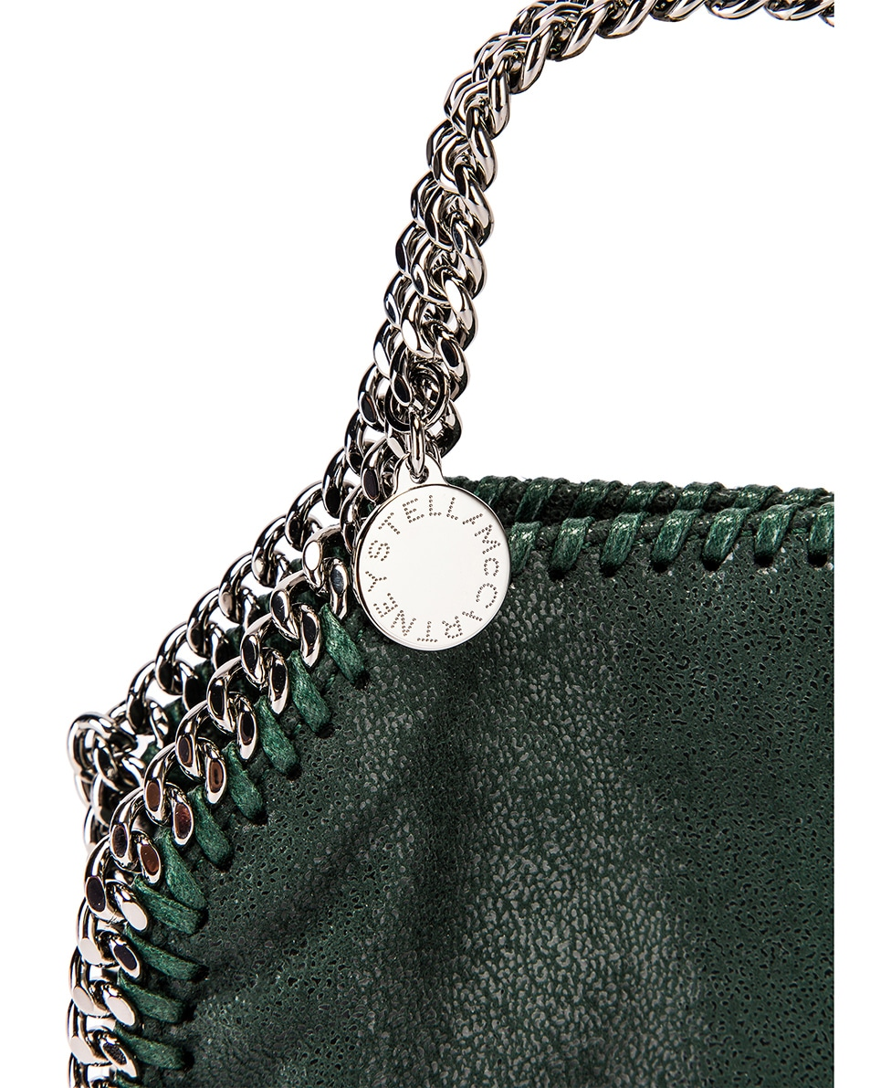 Image 8 of Stella McCartney Shaggy Deer Falabella Tiny Tote in Pine