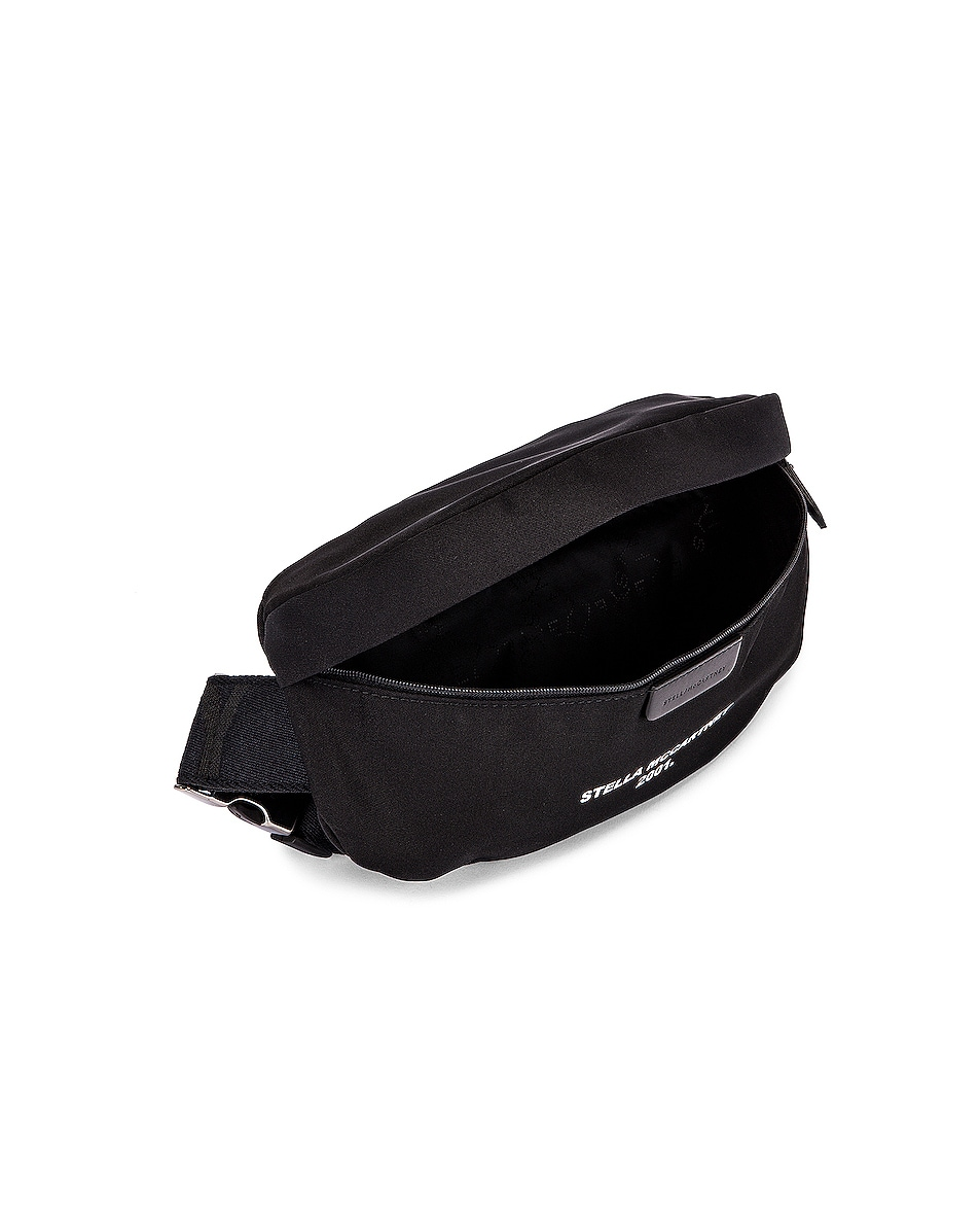 Image 4 of Stella McCartney Nylon Falabella Bum Bag in Black & White
