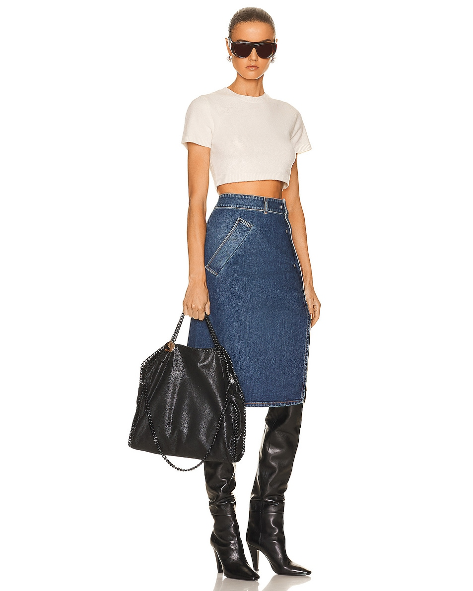 Image 2 of Stella McCartney Falabella Chain Bag in Black