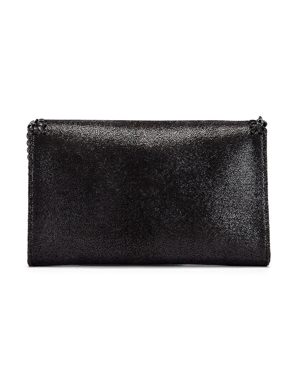 Image 3 of Stella McCartney Mini Falabella Shaggy Deer Crossbody Bag in Black