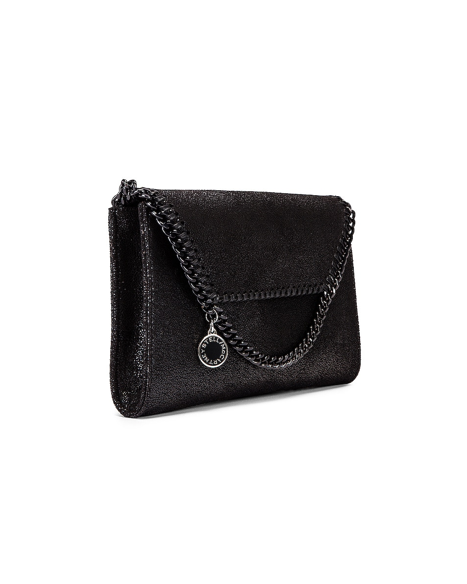 Image 4 of Stella McCartney Mini Falabella Shaggy Deer Crossbody Bag in Black