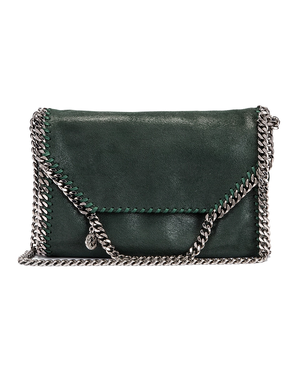 Image 1 of Stella McCartney Shaggy Deer Falabella Big Shoulder Bag in Pine