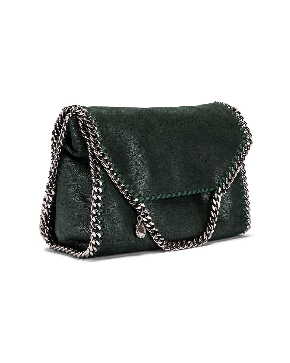 Image 4 of Stella McCartney Shaggy Deer Falabella Big Shoulder Bag in Pine