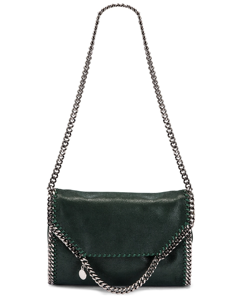 Image 6 of Stella McCartney Shaggy Deer Falabella Big Shoulder Bag in Pine