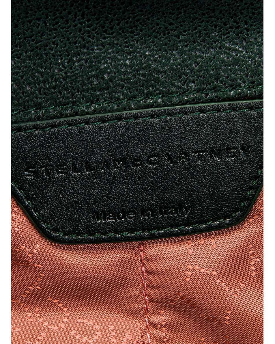 Image 7 of Stella McCartney Shaggy Deer Falabella Big Shoulder Bag in Pine