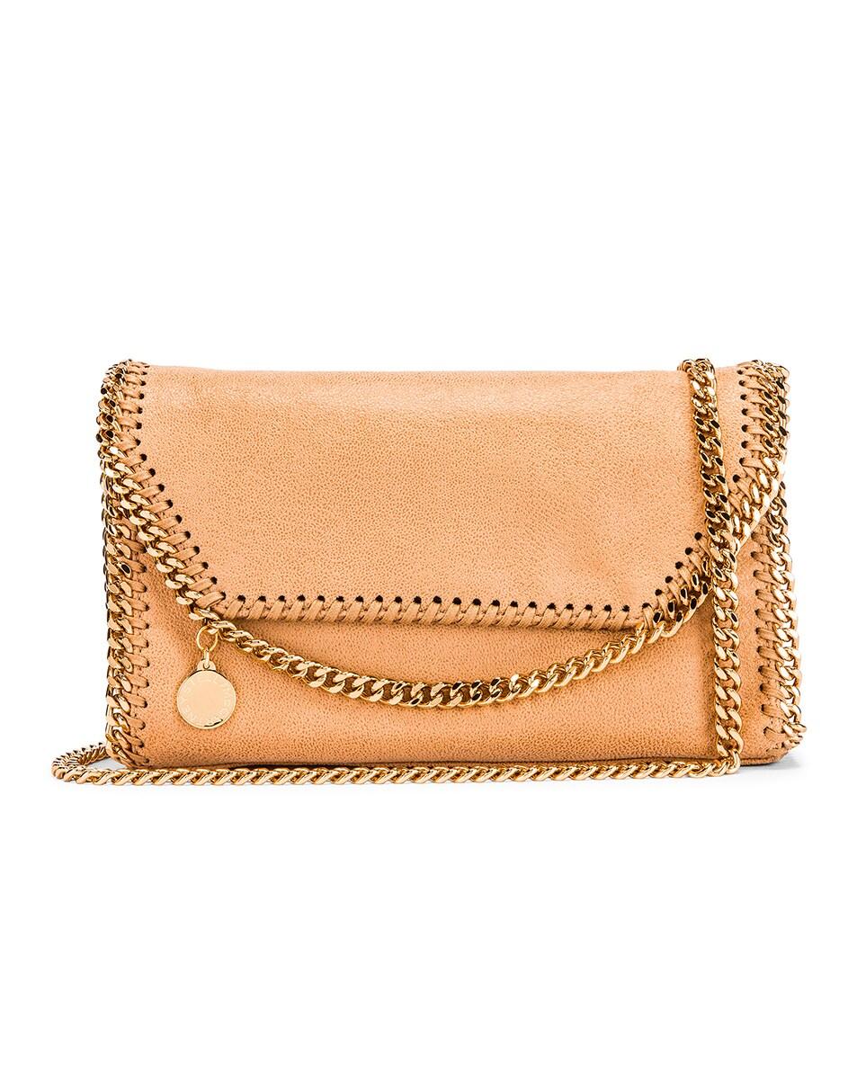 Image 1 of Stella McCartney Mini Falabella Shoulder Chain Bag in Tan