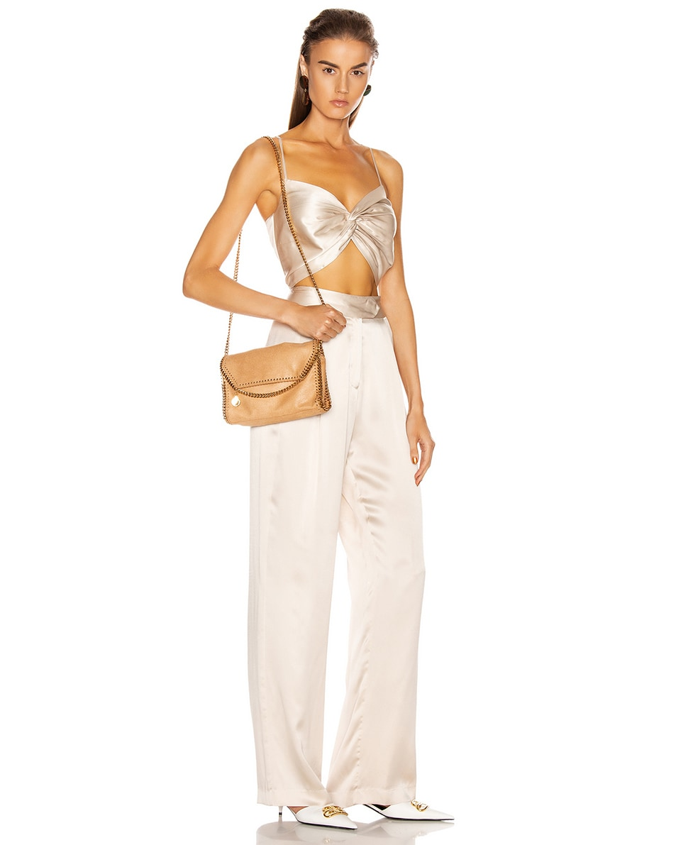 Image 2 of Stella McCartney Mini Falabella Shoulder Chain Bag in Tan