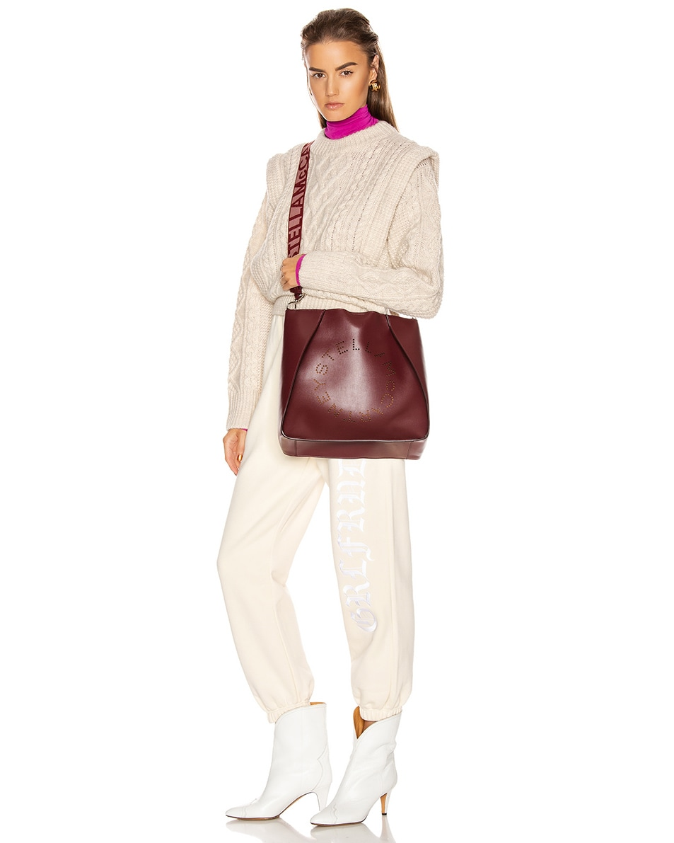 Image 2 of Stella McCartney Medium Crossbody Bag in Wine