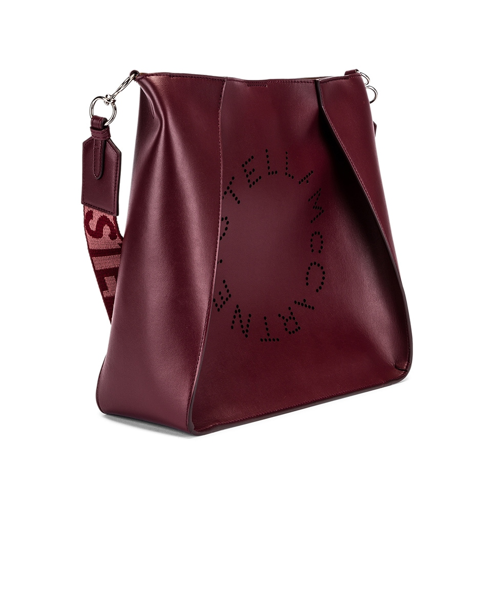 Image 4 of Stella McCartney Medium Crossbody Bag in Wine