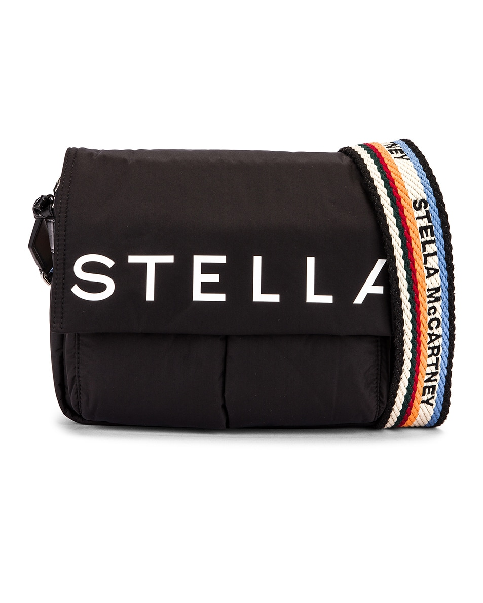 Image 1 of Stella McCartney Medium Padded Nylon Shoulder Bag in Black