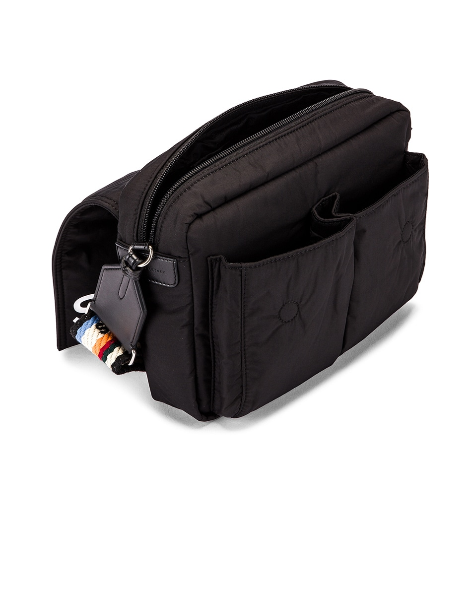 Image 5 of Stella McCartney Medium Padded Nylon Shoulder Bag in Black