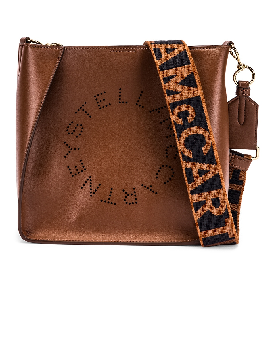 Image 1 of Stella McCartney Mini Crossbody Bag in Cinnamon